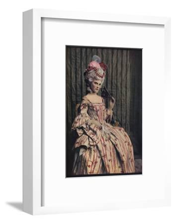 'A dress of charming proportion in beautiful French brocade. Period 1775-85', c1913-Unknown-Framed Photographic Print