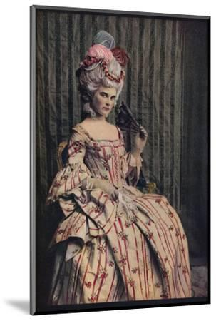 'A dress of charming proportion in beautiful French brocade. Period 1775-85', c1913-Unknown-Mounted Photographic Print