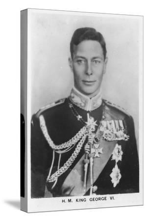 'HM King George VI' (1895-1952), 1937-Unknown-Stretched Canvas Print