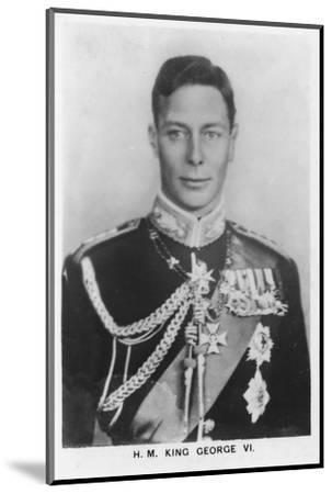 'HM King George VI' (1895-1952), 1937-Unknown-Mounted Photographic Print