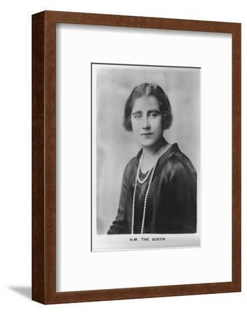 'HM Queen Elizabeth, the Queen Mother', 1937-Unknown-Framed Photographic Print