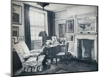 'Edward Marsh's living-room', c1934-Unknown-Mounted Photographic Print