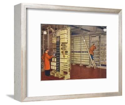 Automatic telephone exchange, 1938-Unknown-Framed Giclee Print