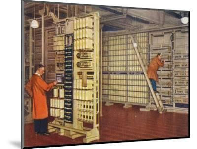 Automatic telephone exchange, 1938-Unknown-Mounted Giclee Print