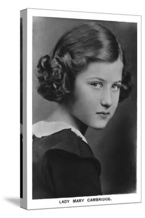 'Lady Mary Cambridge', 1937-Unknown-Stretched Canvas Print