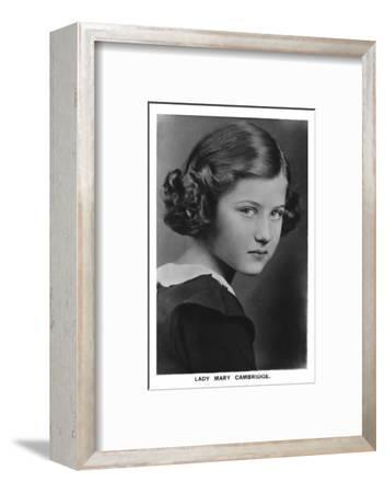 'Lady Mary Cambridge', 1937-Unknown-Framed Photographic Print