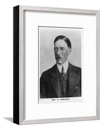 'Henry George Charles Lascelles, 6th Earl of Harewood' (1882-1947), 1937-Unknown-Framed Photographic Print