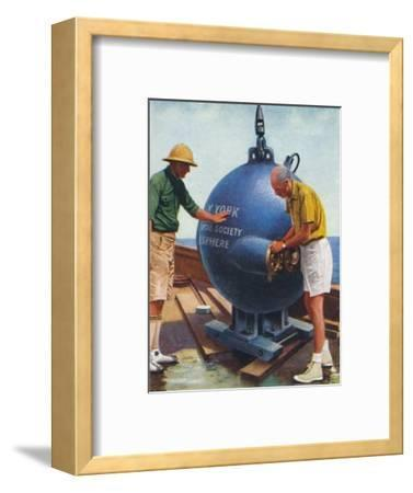 The Bathysphere, 1938-Unknown-Framed Giclee Print