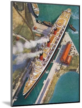 The 'Queen Mary' at Southampton, 1938-Unknown-Mounted Giclee Print