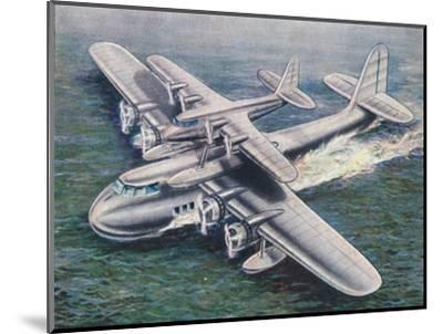 The Short Mayo Composite aircraft, 1938-Unknown-Mounted Giclee Print