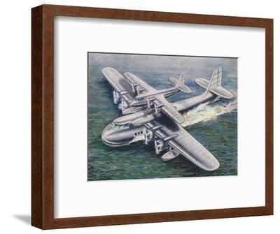 The Short Mayo Composite aircraft, 1938-Unknown-Framed Giclee Print