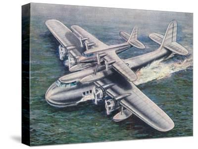 The Short Mayo Composite aircraft, 1938-Unknown-Stretched Canvas Print