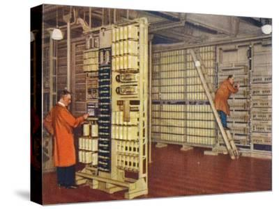 Automatic telephone exchange, 1938-Unknown-Stretched Canvas Print