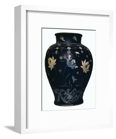 'Ming Dynasty, Fahua vase', 15th century-Unknown-Framed Giclee Print
