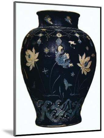'Ming Dynasty, Fahua vase', 15th century-Unknown-Mounted Giclee Print