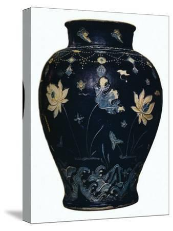 'Ming Dynasty, Fahua vase', 15th century-Unknown-Stretched Canvas Print