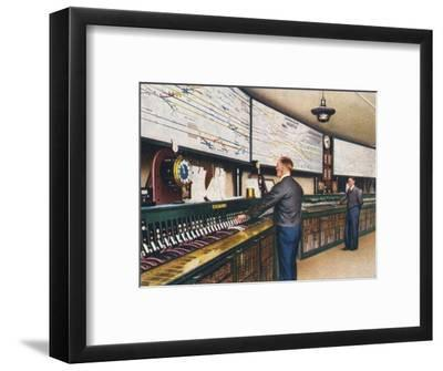 All-electric signal box, 1938-Unknown-Framed Giclee Print