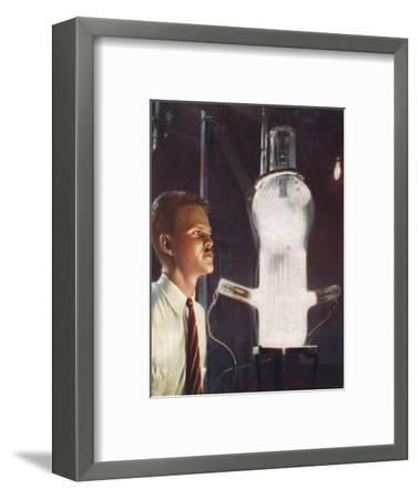 High power grid-glow tube, 1938-Unknown-Framed Giclee Print