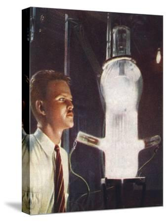 High power grid-glow tube, 1938-Unknown-Stretched Canvas Print