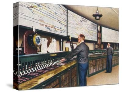 All-electric signal box, 1938-Unknown-Stretched Canvas Print