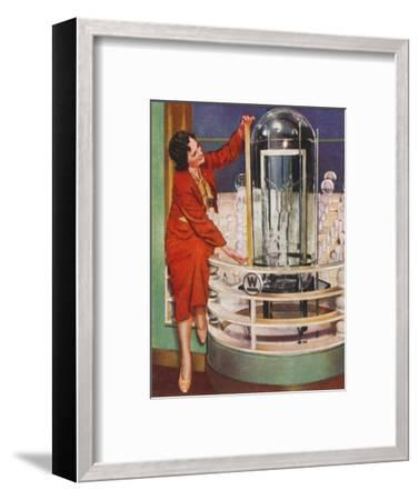 Gigantic electric lamp, 1938-Unknown-Framed Giclee Print