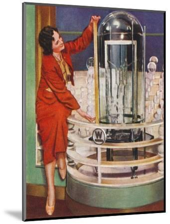 Gigantic electric lamp, 1938-Unknown-Mounted Giclee Print