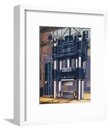6000-ton forging press, 1938-Unknown-Framed Giclee Print