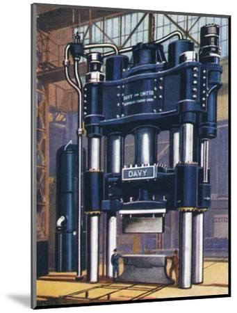 6000-ton forging press, 1938-Unknown-Mounted Giclee Print
