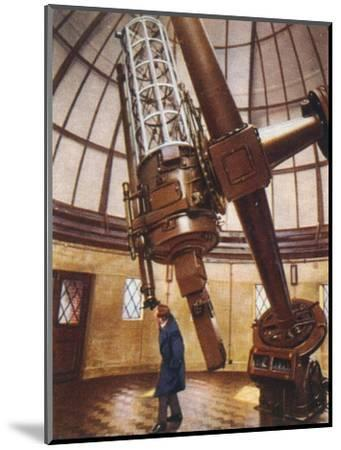 Greenwich's largest telescope, 1938-Unknown-Mounted Giclee Print