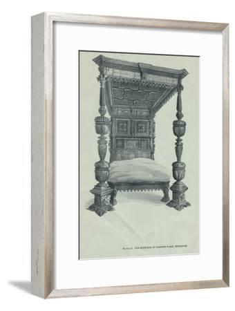 Oak bedstead at Cumnor Place, Berkshire, 1915-Unknown-Framed Giclee Print