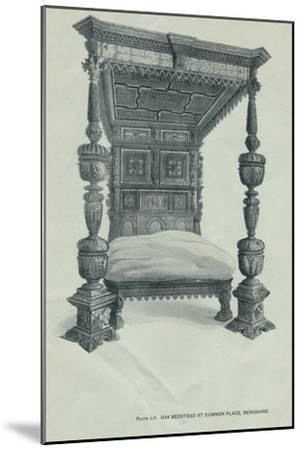 Oak bedstead at Cumnor Place, Berkshire, 1915-Unknown-Mounted Giclee Print