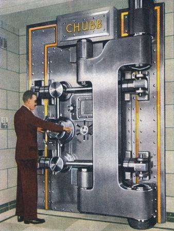 30-ton treasury door, 1938-Unknown-Framed Giclee Print