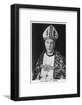 'The Bishop of London Dr Winnington-Ingram', 1937-Unknown-Framed Photographic Print