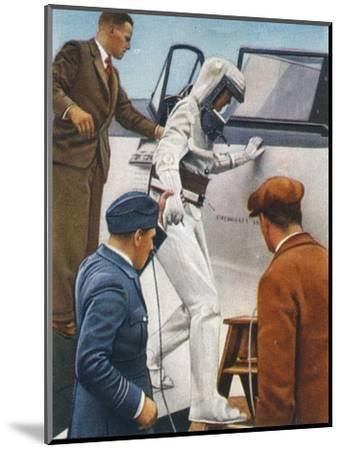 Sealed flying suit, 1938-Unknown-Mounted Giclee Print