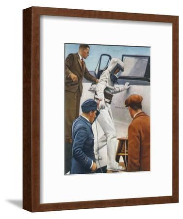 Sealed flying suit, 1938-Unknown-Framed Giclee Print
