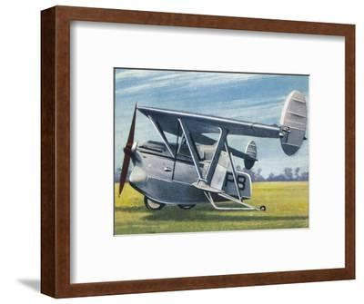 The Westland-Hill 'Pterodactyl', 1938-Unknown-Framed Giclee Print