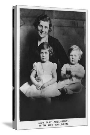 'Lady May Abel-Smith with her Children', 1937-Unknown-Stretched Canvas Print