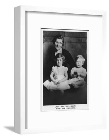 'Lady May Abel-Smith with her Children', 1937-Unknown-Framed Photographic Print