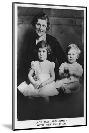 'Lady May Abel-Smith with her Children', 1937-Unknown-Mounted Photographic Print