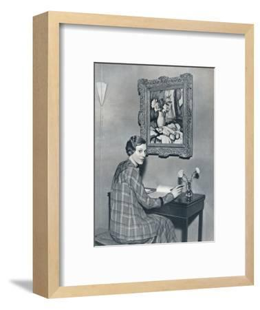 'Marie Ney in her Flat', c1934-Unknown-Framed Photographic Print