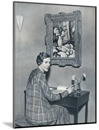 'Marie Ney in her Flat', c1934-Unknown-Mounted Photographic Print