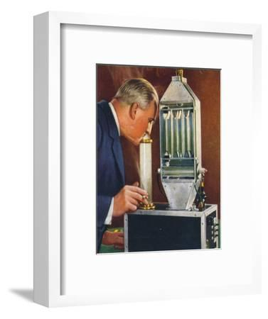 Cleaning air by electricity, 1938-Unknown-Framed Giclee Print