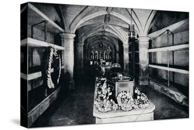 The crypt under the chancel of St George's Chapel, Windsor Castle, 1910 (1911)-Unknown-Stretched Canvas Print
