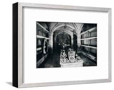 The crypt under the chancel of St George's Chapel, Windsor Castle, 1910 (1911)-Unknown-Framed Photographic Print