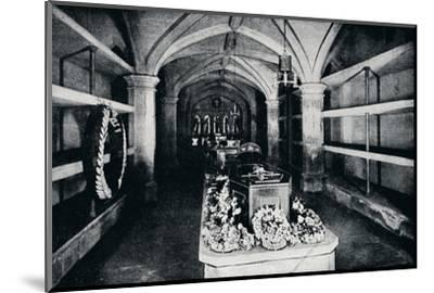 The crypt under the chancel of St George's Chapel, Windsor Castle, 1910 (1911)-Unknown-Mounted Photographic Print