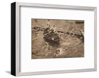 The University Boat Race, March 1912 (1935)-Unknown-Framed Photographic Print
