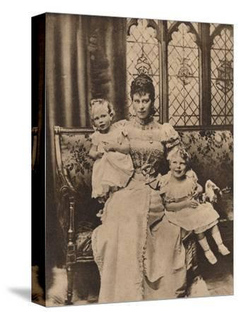 The Duchess of York with her two sons, Princes Edward and Albert, c1897 (1935)-Unknown-Stretched Canvas Print