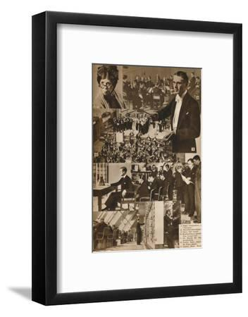 'A Visit to the BBC 7-13', 1937-Unknown-Framed Photographic Print