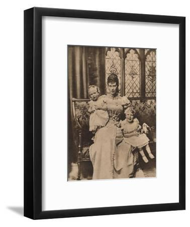 The Duchess of York with her two sons, Princes Edward and Albert, c1897 (1935)-Unknown-Framed Photographic Print