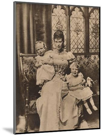 The Duchess of York with her two sons, Princes Edward and Albert, c1897 (1935)-Unknown-Mounted Photographic Print